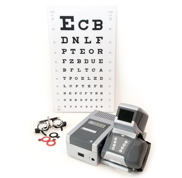 Meting met een oogmeetcomputer en pasbril